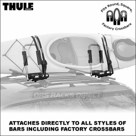 Thule 835PRO Hull-a-Port Pro Kayak Rack - Universal Thule Kayak Rack Fits All Roof Racks