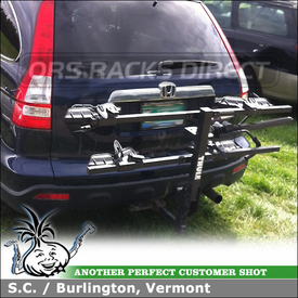 Thule 990XT DoubleTrack Platform Tray Two Bike Rack for Trailer Hitch on Honda CRV