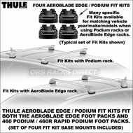 Thule AeroBlade Edge / Podium Fit Kits (set of 4) for use with 460 / 460R Podium Foot Packs + 7604, 7603, 7602, 7601 AeroBlade Edge Foot & Bar Assemblies