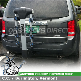 Thule Apex Locking Four Bike Hitch Rack for a 2009 Honda Pilot Receiver Hitch Mount