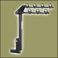 Thule Bike Hitch  Rack - Thule 944 Hitching Post 4 Bike Carrier Hitch Mounted Bike Rack for 2in. Hitch Receivers