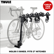 "Thule Bike Hitch Racks - Thule 915XT Roadway 5 Bike Hitch Rack for 2"" Hitches"