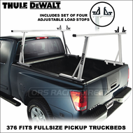 Thule DeWalt Pro Series Truck Racks - 2011 Thule DeWalt 376 Truck Rack for Full-Size Pickup Truck Beds