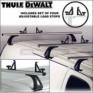 Thule DeWalt Van Racks - 2011 Professional Thule DeWalt 333 Van Rack with Three Bars