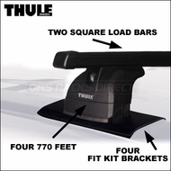 Thule Honda CRV Roof Racks - 2008 Thule 770 Car Rack for Honda CR-V 2007+