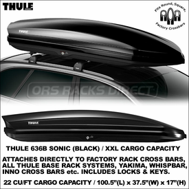 Thule Racks 636S 636B Sonic XXL Cargo Roof Boxes Now Available