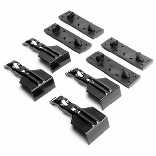 Thule Racks FitKit Clips - Fit Kit 2047 - Fits VW Jetta Golf GTI Roof Racks
