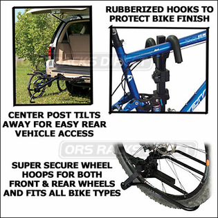 "(Thule Racks) SportRack A30901 EZ Hitch Platform 2 Bike Rack for 2"" & 1.25"" Hitches"