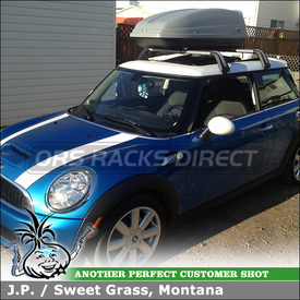 Thule SideKick Locking Gear Box for Factory Cross Bars on a 2010 Mini Cooper S