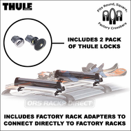 Thule Ski Racks & Snowboard Racks - 2011 Thule 91724 Universal Flat Top Snowboard / Ski Rack for up to 4pr. skis or 2 snowboards