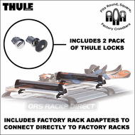 Thule Snowboard Racks & Ski Racks - 2011 Thule 91726 Universal Ski / Snowboard Rack for up to 6pr. skis or 4 snowboards