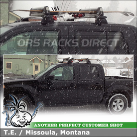 Thule Snowboards-Skis Rack for 2011 Nissan Frontier Crew Cab Roof Rack Whispbar Crossbars System