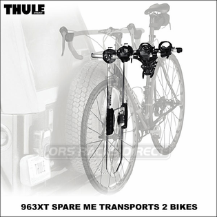 Thule Spare Tire Bike Racks - Thule 963XT Spare Me Spare Wheel Mount Bicycle Rack
