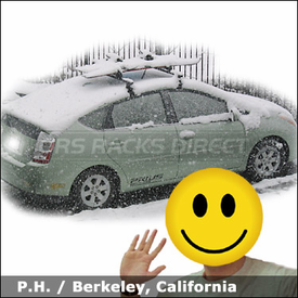 Toyota Prius Roof Rack for Skis & Snowboard with Thule 400XT Car Rack System and 91725 Ski Rack