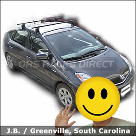 Toyota Prius Roof Rack with Yakima Q Towers System