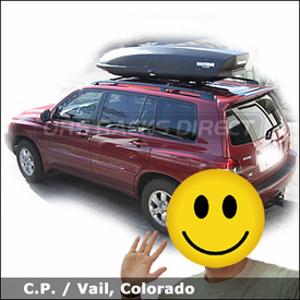 Toyota RAV4 Cargo Roof Box with Yakima SkyBox 12 Ski Box