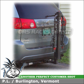 Toyota Sienna Minivan Hitch Bike Rack for 2 inchTrailer Hitches - Yakima DoubleDown 4