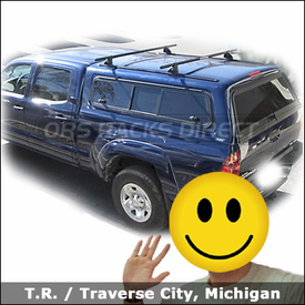 "Toyota Tacoma Camper Shell Roof Rack with Yakima 60"" Tracks & Control Towers System"