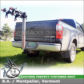 Toyota Tundra Pickup Truck Trailer Hitch Bike Rack using Yakima Double Down Ace 4 Bike Hitch Rack