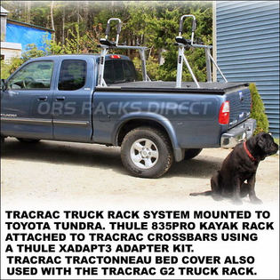 TracRac TracTonneau Bed Cover (23500 - 23519) - Tonneau Cover for TracRac G2 Sliding Truck Rack & UtilityRac