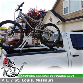 Truck Rack Cross Bars and Bike Rack for Nissan Frontier Pickup Truckbed