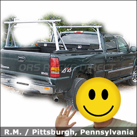 Truck Rack for GMC Sierra Pickup with TracRac Sliding Track Rack System