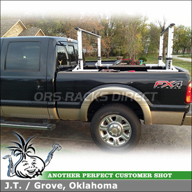 Truck Rack-Ladder Rack for 2012 Ford F-250 Pickup Bed Rails using Thule Xsporter