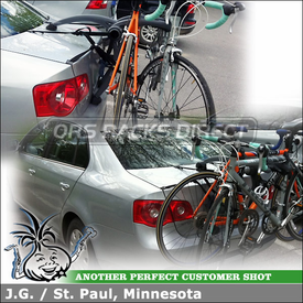 Trunk Bike Rack for 2 Bicycles On Volkswagen Jetta | Saris Bones 2 Bike Trunk Rack