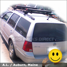 Volkswagen Jetta Ski Rack / Snowboard Rack with Yakima Fat Cat 6