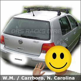 VW Golf Roof Rack with Thule 400XT Aero Car Rack System