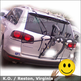 VW Touareg Bike Rack with Saris 805 Bones 2 Bike Trunk Rack
