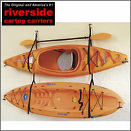 Wall Kayak Hangers -  2013 Riverside Kayak Hanger (also a sailboard, SUP, surfboard & ladder hanger)