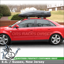 Whispbar Car Rack and Thule Cargo Box for 2004 Audi A4 4DR Sedan