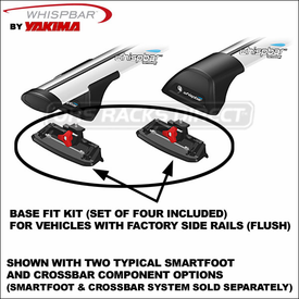 Whispbar K624 Fitting Kit (set of 4) for use with Whispbar Roof Rack SmartFoot & Crossbars - 8051624