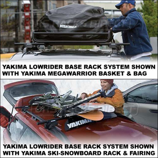 Yakima Car Racks - Yakima Lowrider Complete Roof Rack System for Factory Installed Side Rails