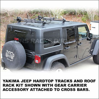 Yakima Jeep Wrangler HardTop Roof Rack Tracks Kit