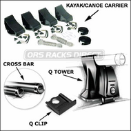 Yakima Kayak Racks & Canoe Racks - Yakima Q Towers / RhodeGear Kayak Roof Rack Package