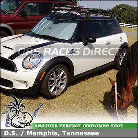 Yakima Q Tower Roof Rack with Bike Holders and Wind Deflector for 2008 Mini Cooper S