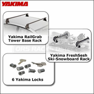 Yakima Rack Packages - Yakima RailGrab Towers / Fresh Sesh / 6 Yakima Locks