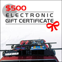 Yakima Rack & Thule Rack Gift Certificates from ORS Racks Direct - $500 Gift Certificates