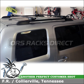 Yakima RailGrab Towers Cartop Rack for Elevated Parallel Rails on a 2011 Honda Pilot