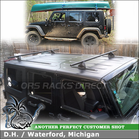 Yakima Roof Rack Cross Bars and Tracks for 2008 Jeep Wrangler Hardtop
