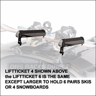 Yakima Ski Racks & Snowboard Racks - Yakima LiftTicket 6 for up to 6 pairs of skis or 4 snowboards (3063)