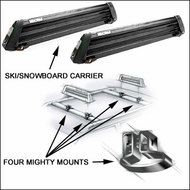 Yakima Snowboard Racks & Ski Racks - Yakima Buttondown / Mighty Mounts for up to 6 pairs of skis or 4 snowboards