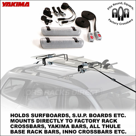 Yakima WaveHog Surfboard / SUP Rack (includes SoulPad, RipCord and S.U.P. Brah)