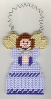 Plastic Canvas Angel Ornament