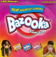 Bazooka Bubble Gum  Assorted
