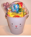 Bunny Easter Pail Filled With Candy