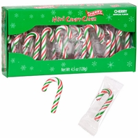 Cherry Flavored Mini Candy Canes