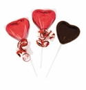 Chocolate Heart Shaped Suckers